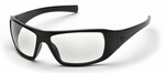 Pyramex Goliath Safety Glasses with Black Frame and Clear Lens