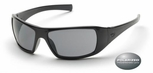 Pyramex Goliath Safety Glasses with Black Frame and Gray Polarized Lens