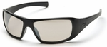 Pyramex Goliath Safety Glasses with Black Frame and Indoor-Outdoor Lens