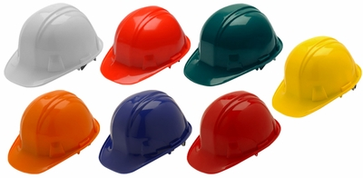 Pyramex Hard Hat with Standard Shell and 6-Point Ratchet Suspension
