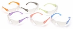 Pyramex Intruder Safety Glasses with Multi-Color Frames and Clear LensBox of 12