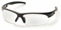 Pyramex Ionix Safety Glasses with Black Frame and Clear Anti-Fog Lens