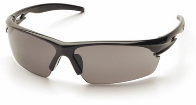 Pyramex Ionix Safety Glasses with Black Frame and Smoke Anti-Fog Lens