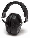 Pyramex Black Low-Profile Folding Ear Muffs 31dB