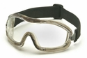 Pyramex Low Profile Splash Goggles with Translucent Frame and Clear Anti-Fog Lens