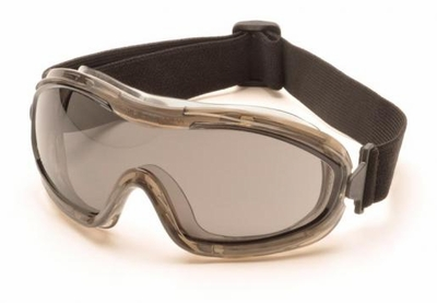 Pyramex Low Profile Splash Goggles with Translucent Frame and Gray Anti-Fog Lens