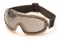 Pyramex Low Profile Splash Goggles with Translucent Frame and Gray AF Lens