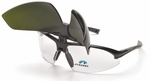 Pyramex Onix Plus Bifocal Safety Glasses with Clear Anti-Fog Lens and Shade 5 Welding Flip Lens