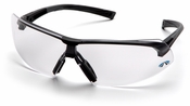 Pyramex Onix Safety Glasses with Black Frame and Clear Anti-Fog Lens