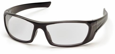 Pyramex Outlander Safety Glasses with Black Frame and Clear Lens