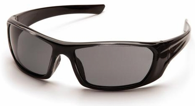 Pyramex Outlander Safety Glasses with Black Frame and Gray Lens