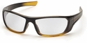 Pyramex Outlander Safety Glasses with Black/Gold Frame and Clear Lens