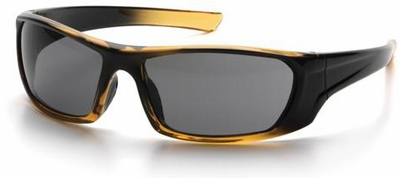 Pyramex Outlander Safety Glasses with Black/Gold Frame and Gray Lens