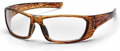 Pyramex Outlander Safety Glasses with Caramel Frame and Clear Lens