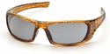 Pyramex Outlander Safety Glasses with Caramel Frame and Gray Lens