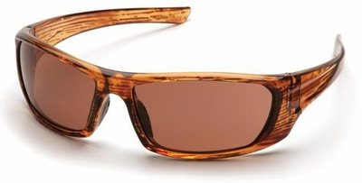 Pyramex Outlander Safety Glasses with Caramel Frame and Sandstone Bronze Lens