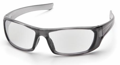 Pyramex Outlander Safety Glasses with Nickel Frame and Clear Lens