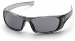 Pyramex Outlander Safety Glasses with Nickel Frame and Gray Lens