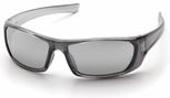 Pyramex Outlander Safety Glasses with Nickel Frame and Silver Mirror Lens