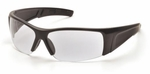 Pyramex PMX-Torq Safety Glasses with Black Frame and Clear Lens
