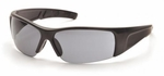 Pyramex PMX-Torq Safety Glasses with Black Frame and Gray Lens