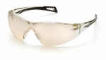 Pyramex PMXSlim Safety Glasses with Black Temples and Indoor-Outdoor Lens