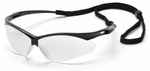 Pyramex PMXtreme Safety Glasses with Black Frame and Clear Lens