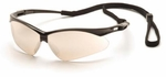 Pyramex PMXtreme Safety Glasses with Black Frame and Indoor-Outdoor Mirror Lens