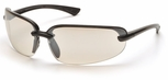 Pyramex Protocol Safety Glasses with Black Frame and Indoor-Outdoor Mirror Lens