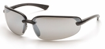 Pyramex Protocol Safety Glasses with Black Frame and Silver Mirror Lens