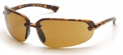 Pyramex Protocol Safety Glasses with Tortoise Shell Frame and Coffee Lens