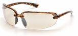 Pyramex Protocol Safety Glasses with Tortoise Shell Frame and Indoor-Outdoor Mirror Lens
