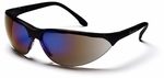 Pyramex Rendezvous Safety Glasses with Black Frame and Blue Mirror Lens