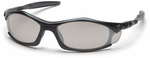 Pyramex Solara Safety Glasses with Black Frame and Indoor-Outdoor Lens