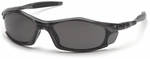 Pyramex Solara Safety Glasses with Gray Frame and Gray Lens