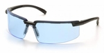 Pyramex Surveyor Safety Glasses with Black Frame and Infinity Blue Lens