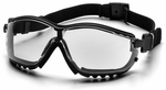 Pyramex V2 Goggles with Black Frame and Clear Anti-Fog Lens