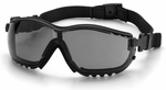 Pyramex V2 Goggles with Black Frame and Gray Anti-Fog Lens