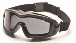 Pyramex V2G Plus Goggles with Black Frame and Dual-Pane Gray Anti-Fog Lens