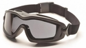 Pyramex V2-XP Goggles with Black Frame and Dual-Pane Gray Anti-Fog Lens