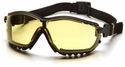 Pyramex V2 Goggles with Black Frame and Amber Lens