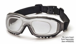 Pyramex V3G-Rx Safety Glasses/Goggles with Black Frame and Clear Anti-Fog Lens