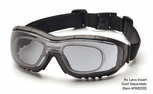 Pyramex V3G-Rx Safety Glasses/Goggles with Black Frame and Gray Anti-Fog Lens