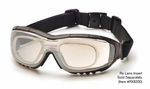 Pyramex V3G-Rx Safety Glasses/Goggles with Black Frame and Indoor/Outdoor Anti-Fog Lens