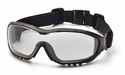 Pyramex V3G Safety Glasses/Goggles with Black Frame and Clear Anti-Fog Lens