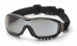 Pyramex V3G Safety Glasses/Goggles with Black Frame and Gray Anti-Fog Lens