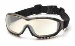 Pyramex V3G Safety Glasses/Goggles with Black Frame and Indoor/Outdoor Anti-Fog Lens