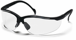 Pyramex Venture 2 Safety Glasses with Black Frame and Clear Anti-Fog Lens