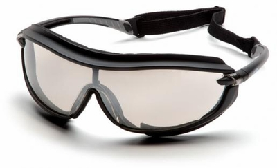 Pyramex XS3 Plus Safety Glasses with Black Padded Frame and Indoor/Outdoor Anti-Fog Lens