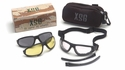 Pyramex XSG Ballistic Goggle Kit with Black Frame and Clear, Gray and Amber Lenses